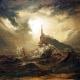 Stürmische See mit Leuchtturm. Carl Blechen (1798-1840)